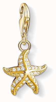 Thomas Sabo Starfish Sterling Silver Gold Plated Charm 1520-414-14