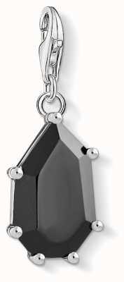 Thomas Sabo Black Stone Sterling Silver Charm 1542-507-11