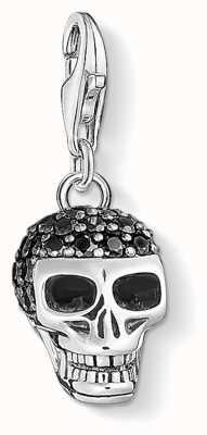 Thomas Sabo Skull Pavé Sterling Silver Charm 1547-643-11