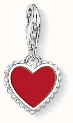 Thomas Sabo Red Heart Sterling Silver Charm 1564-337-10