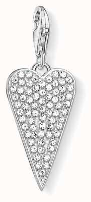 Thomas Sabo Heart Pavé Sterling Silver Charm 1568-051-14