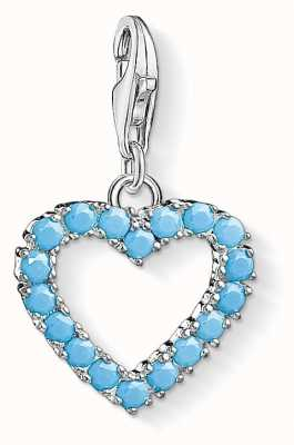 Thomas Sabo Turquoise Heart Sterling Silver Charm 1572-699-17