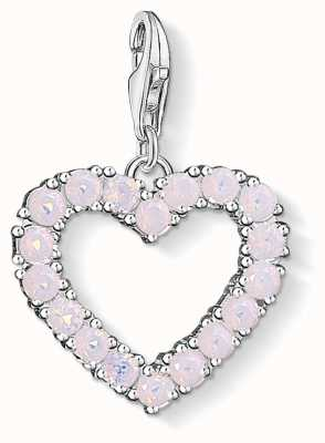 Thomas Sabo Heart With Hot Pink Stones Sterling Silver Charm 1573-699-9