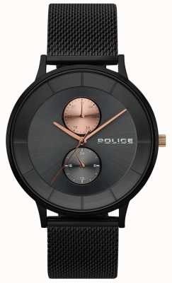 Police Mens Berkeley Black Mesh Watch 15402JSB/61MM