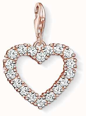 Thomas Sabo Charm Pendant Open Heart Rose 1574-416-14