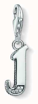 Thomas Sabo Letter J Pendant Sterling Silver Blackened Zirconia 1590-643-21