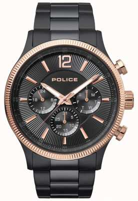 Police Mens Feral Two-tone Ip Plated Bracelet Watch 15302JSBR/02M
