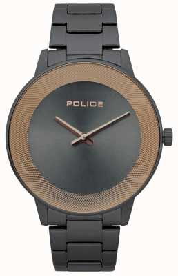Police Mens Sunrise Stainless Steel Minimalistic Watch 15386JSU/61M