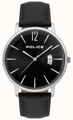 Police Mens Virtue Black Leather Watch 15307JS/02