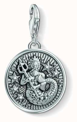 Thomas Sabo Zodiac Sign Aquarius Sterling Silver Blackened Zirconia 1638-643-21