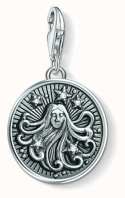 Thomas Sabo Zodiac Sign Virgo Sterling Silver Blackened Zirconia 1645-643-21