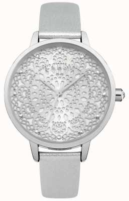 Lipsy Womens Silver Lace Dial Watch LP570