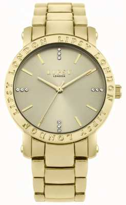 Lipsy Womens Gold Dial, Gold Bracelet Watch LP566