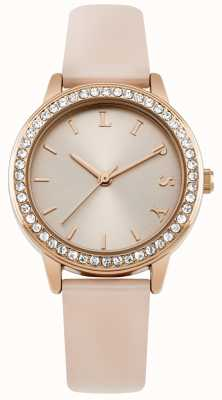 Lipsy Womens Pink Strap, Rose Gold Dial Watch LP565