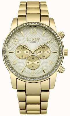 Lipsy Womens Gold Bracelet With Off White Dial Watch LP563
