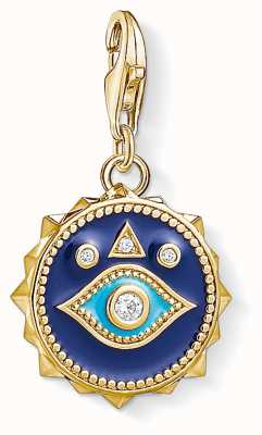 Thomas Sabo Blue Nazar Eye Sterling Silver Gold Plated zirconia 1663-565-32