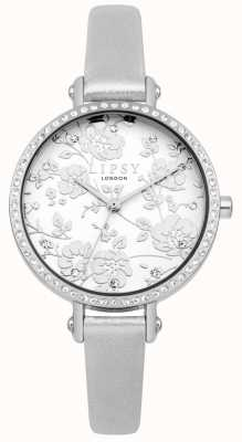 Lipsy Womens Silver Strap Floral Dial Watch LP567
