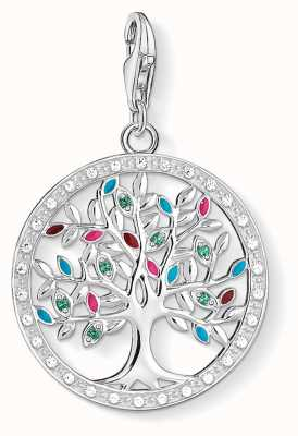 Thomas Sabo Tree Of Love Sterling Silver Multicoloured Zirconia 1667-473-7