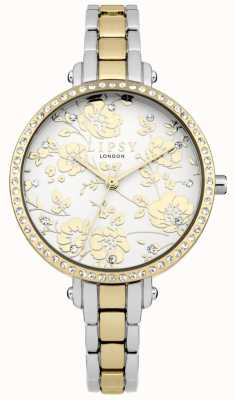 Lipsy Womens Two Tone Floral Watch LP568