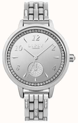 Lipsy Womens Stone Set Silver Bracelet Watch LP564