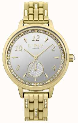 Lipsy Womens Stone Set Gold Plated Watch LP583
