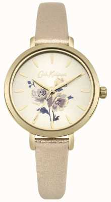 Cath Kidston Womens Island Bunch Metallic Gold Strap Watch CKL049G