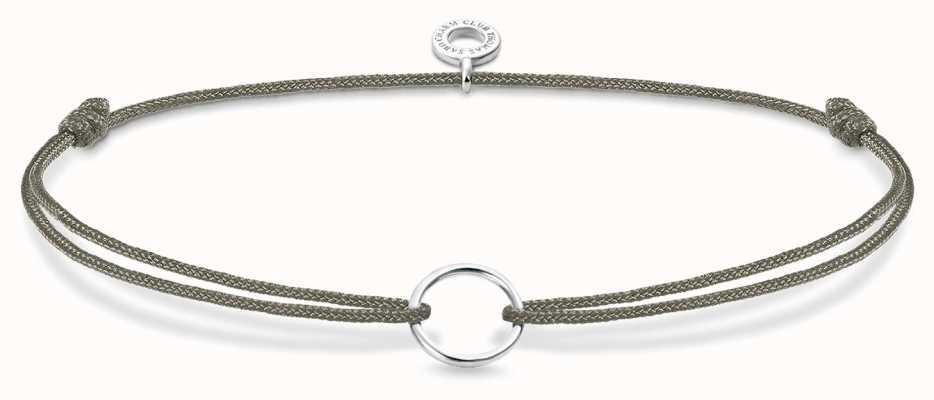 Thomas Sabo Grey Nylon Charm Bracelet Sterling Silver LS066-173-5-L20V