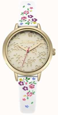 Cath Kidston Womens Laser Cut Highgate Ditsy White Strap Watch CKL055WG