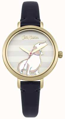 Cath Kidston Womens Dog Print Dial With Blue Strap CKL045UG