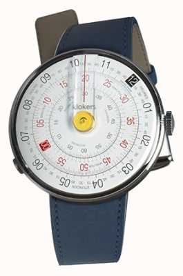 Klokers KLOK 01 Yellow Watch Head Indigo Blue Single Strap KLOK-01-D1+KLINK-01-MC3