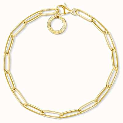 Thomas Sabo 17cm Gold Plated Sterling Silver Link Charm Bracelet X0253-413-39-L17