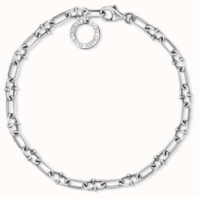 Thomas Sabo 18.5cm Blackened Sterling Silver Charm Bracelet X0255-637-21-L18,5