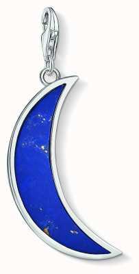 Thomas Sabo Dark Blue Lapis Lazuli Moon Sterling Silver Charm Pendant Y0006-771-1