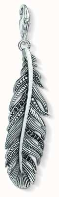 Thomas Sabo Sterling Silver Blackened Ethnic Feather Pendant Charm Y0022-643-11