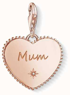 Thomas Sabo Rose Gold Plated Sterling Silver Mum Heart Charm Pendant 1688-416-40