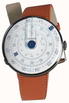 Klokers KLOK 01 Blue Watch Head Orange Alcantara Single Strap KLOK-01-D4.1+KLINK-01-MC5