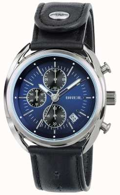 Breil Beaubourg Stainless Steel Chronograph Blue Dial Black Strap TW1528