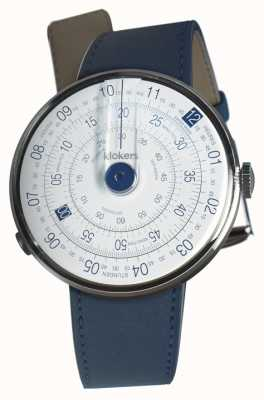 Klokers KLOK 01 Blue Watch Head Indigo Blue Single Strap KLOK-01-D4.1+KLINK-01-MC3