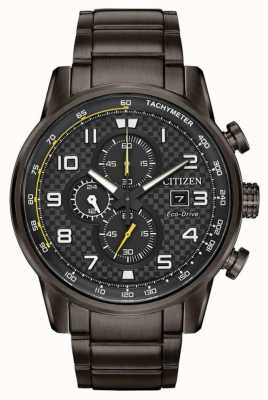 Citizen Mens Sport Chronograph Black IP Plated Watch CA0687-58E