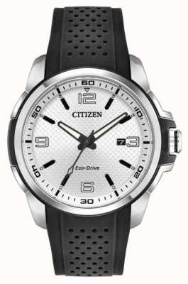 Citizen Mens AR Eco-Drive Black Rubber Strap AW1150-07A