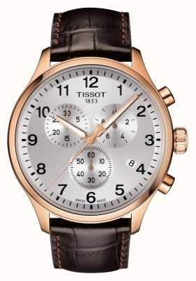 Tissot Mens Chrono XL Classic Rose Gold PVD Leather T1166173603700
