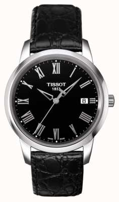 Tissot Mens Classic Dream Black Leather Strap Black Dial T0334101605301