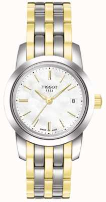 Tissot Womens Classic Dream White MOP Dial Two Tone Bracelet T0332102211100