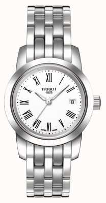 Tissot Womens Classic Dream White Dial Stainless Steel Bracelet T0332101101300