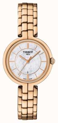 Tissot Womens Flamingo Rose Gold PVD Plated Mother Of Pearl Dial T0942103311101