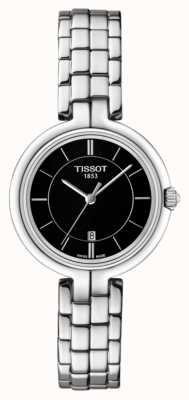 Tissot Womens Flamingo Black Dial Stainless Steel Bracelet T0942101105100
