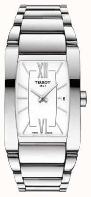 Tissot Womens Generosi-T Stainless Steel White Tonneau Dial Date T1053091101800
