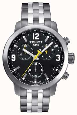 Tissot Mens PRC 200 Chronograph Black Dial Two Tone T0554171105700