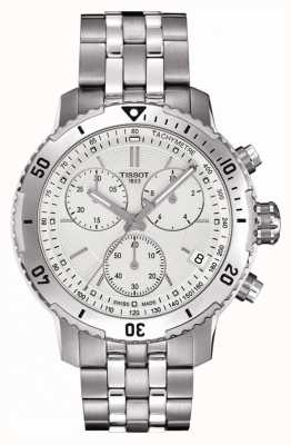 Tissot Mens PRS 200 Silver Dial Chronograph Stainless Steel T0674171103101