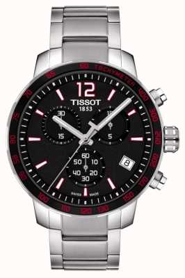 Tissot Mens Quickster Chronograph Black Dial Stainless Steel T0954171105700